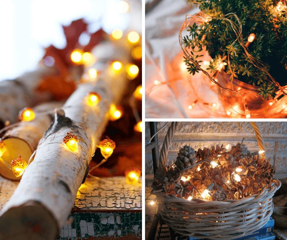 A hangulatos őszi este kellékei: fények