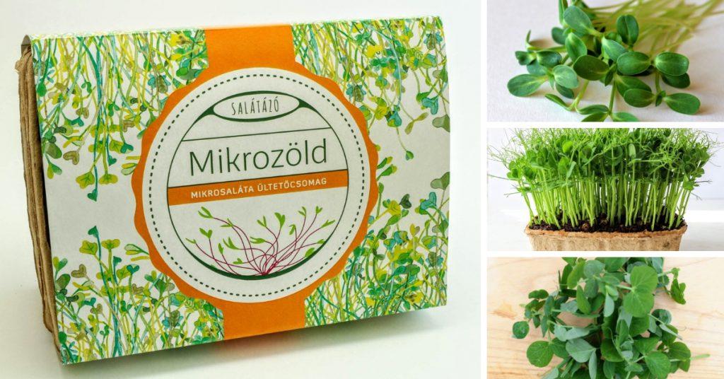Salátázó mikrozöld ültetőkészlet